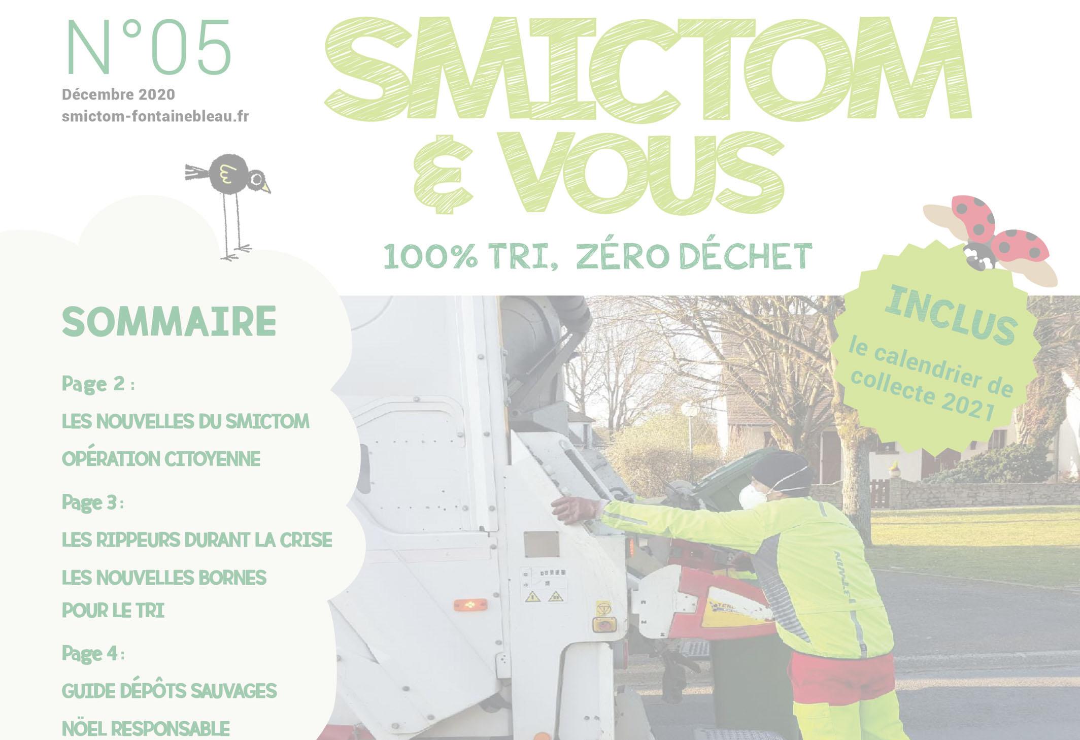 Lettre d'information SMICTOM & Vous n°5 et calendriers de collecte 2021
